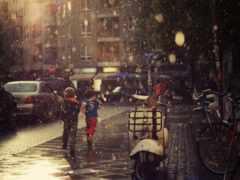 дождь, девушка, настроения
