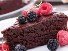 торт, piece, ягода