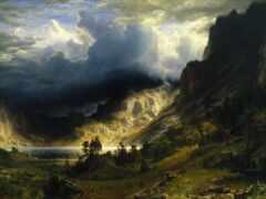 гора, облако, stormy