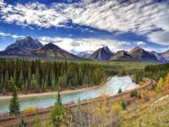 река, бант, гора