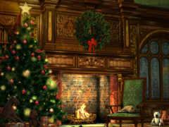 рождественская, елка, новогодняя