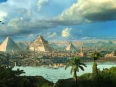 пирамида, египте, старинный