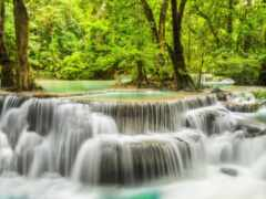 водопад, Мозаика, vykladka