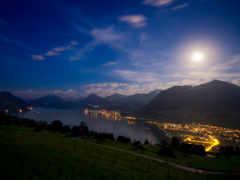 ночь, озеро, swiss Фон № 156128 разрешение 3840x2160
