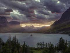 озеро , небо, природа