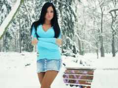 devushki, мини, зимой