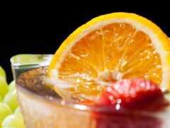 клубника, напиток, лед
