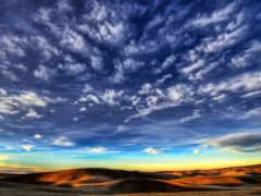 облака, небо, перистые