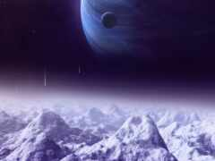 космос, planet, луна