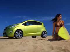 car, девушка, spark