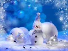 снеговик, new, новый год
