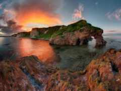 побережье, море, rock