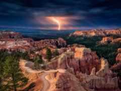 каньон, молния