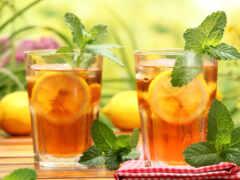 чая, цитрус, холод