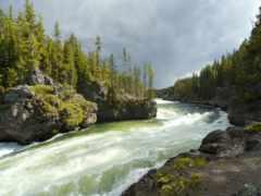 река, ток, горная
