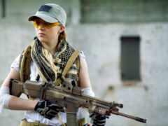 девушка, anime, армия