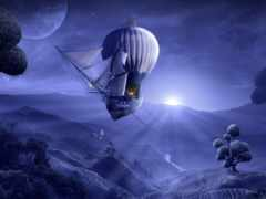 fantasy, корабль, balloon