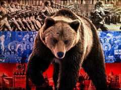медведь, russian, флаг