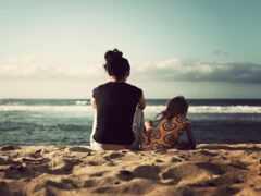 песок, пляж, ребенок