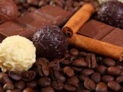 шоколад, кофе, белый