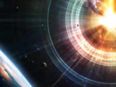 космос, planets, bang