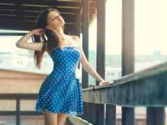 платье, девушка