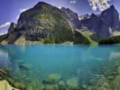 озеро, water, горы