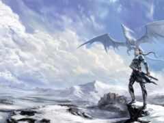 дракон, castle, fantasy
