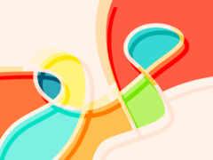 curves, colorful, desktop
