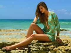 пляж, девушка, ana