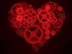 шестеренки, механизм, сердце