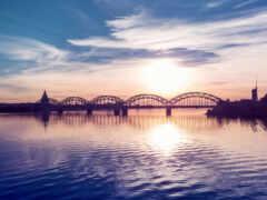 мост, аттракцион, железный