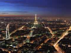 париж, огни, городов