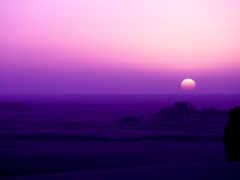 восход, purple, закат