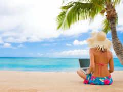 девушка, пляж, море Фон № 173000 разрешение 1920x1200