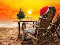 пляж, песок, christmas