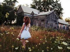 деревня, цветы, house