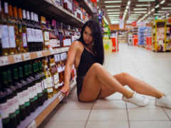 wide, supermarket, self
