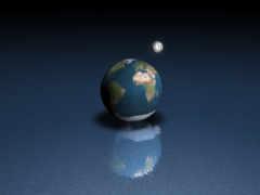 луна, land, земли