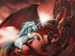 единорог, арта, дракон