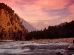 wallpaper, река