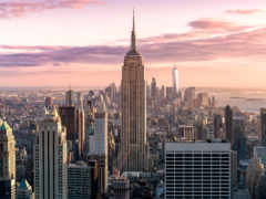 new, york, рассвет