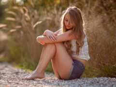 девушка, devushka, barefoot