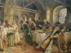 makovskii, живопись, церемония