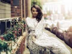 девушка, картинка, улица