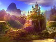 castle, fairytale, фея
