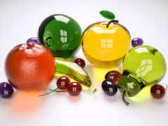 фрукты, glass, яблоки