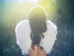 девушка, ангела, крыло