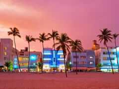 пляж, miami, ocean