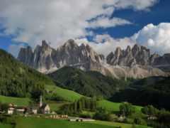 italian, альпы, долина